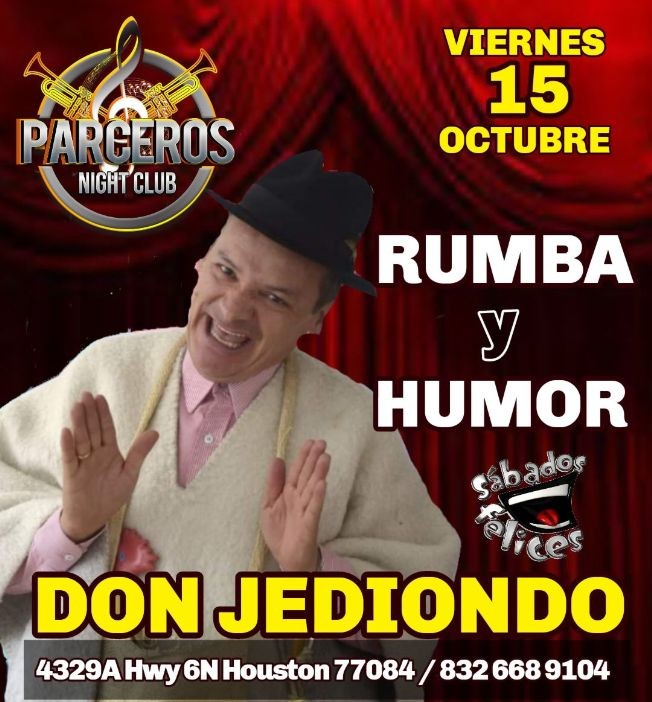 Flyer for Don Jediondo En Houston