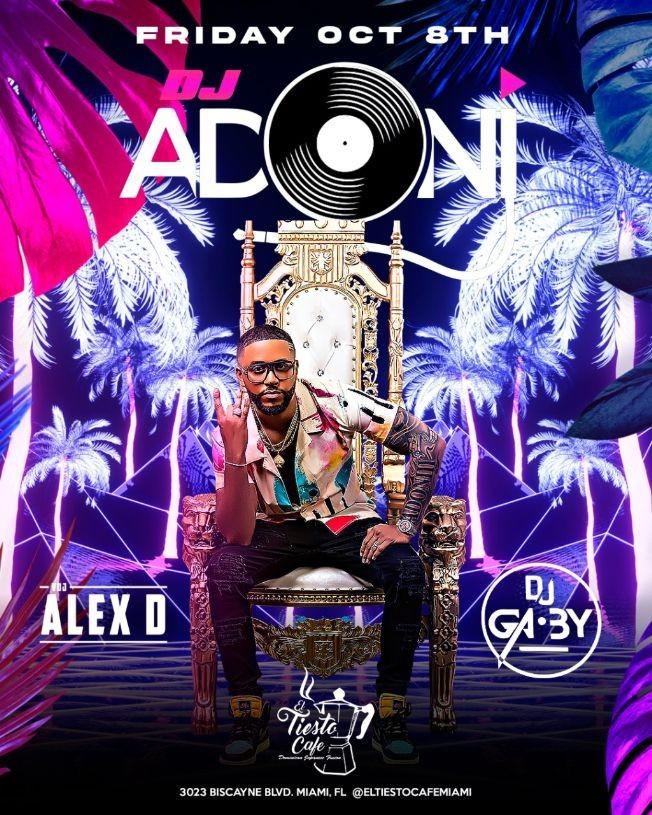 Flyer for DJ ADONI