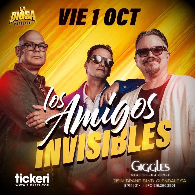 Flyer for LOS AMIGOS INVISIBLES EN LOS ANGELES