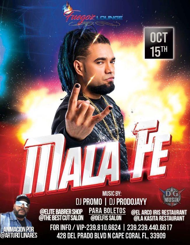 Flyer for Mala Fe en Vivo !