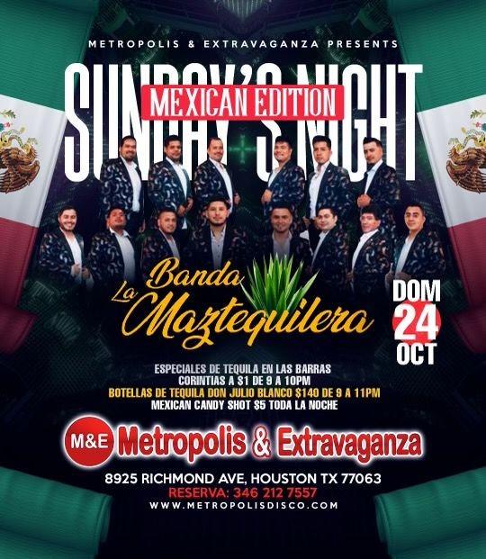 Flyer for Domingos Edicion Mexicana! 🇲🇽 @ Metropolis & Extravaganza