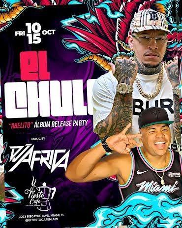 Flyer for EL CHULO EN VIVO ! MIAMI FLORIDA