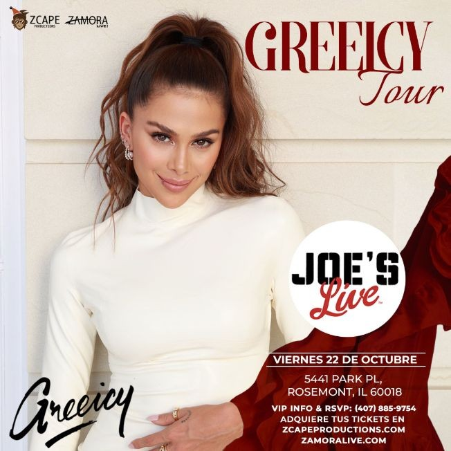 Flyer for GREEICY TOUR EN CHICAGO