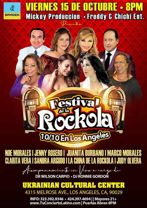 Flyer for FESTIVAL DE LA ROCKOLA EN LOS ANGELES 2021