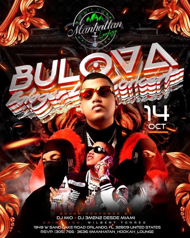 Flyer for BULOVA EN CONCIERTO ! ORLANDO FLORIDA