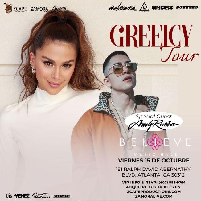 Flyer for GREEICY TOUR CON ANDY RIVERA EN ATLANTA