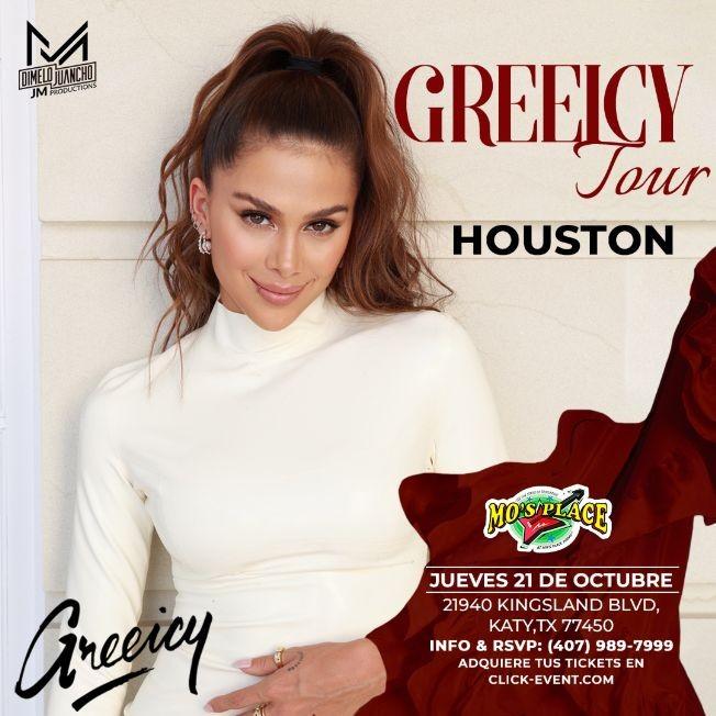Flyer for GREEICY - Greeicy Tour en Vivo ! KATY TEXAS