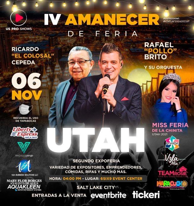 Flyer for Cuarto Amanecer de Feria con Ricardo Cepeda y Rafael Pollo Brito! EVENTO FAMILIAR TODAS LAS EDADES