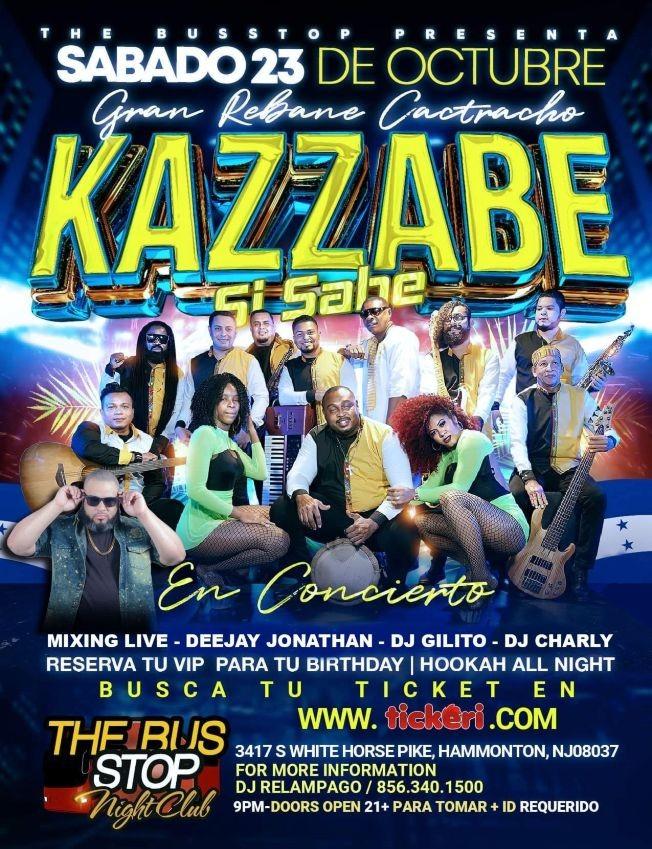 Flyer for KAZZABE SI SABE, GRAN REBANE CATRACHO EN VIVO ! HAMMONTON NEW JERSEY