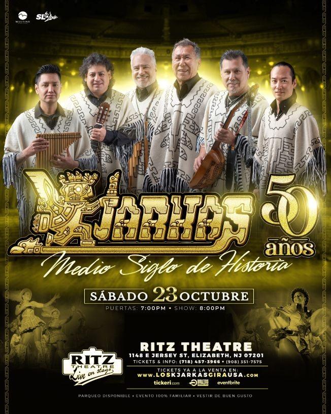 Flyer for KJARKAS 50 AÑOS, MEDIO SIGLO DE HISTORIA ! ELIZABETH NEW JERSEY