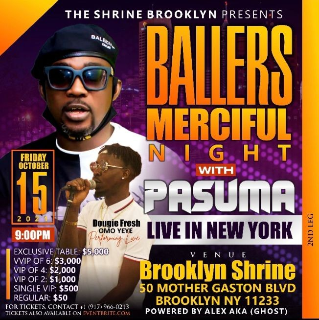 Flyer for Ballers night
