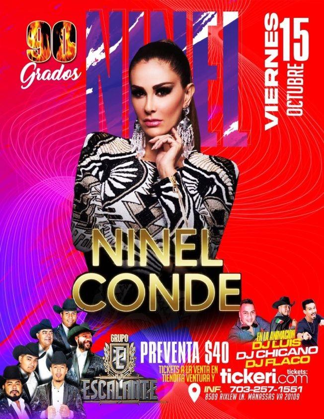 Flyer for NINEL CONDE, GRUPO ESCALANTE EN CONCIERTO ! MANASSAS VIRGINIA