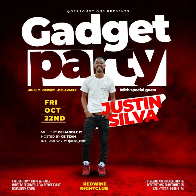 Flyer for PARTY W/ JUSTIN SILVA