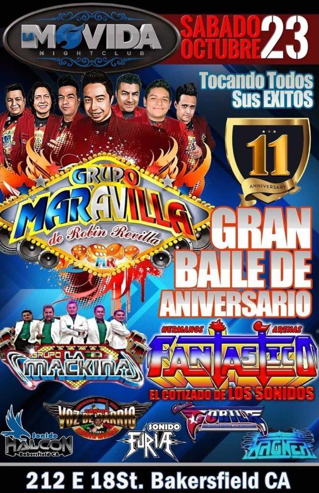 Flyer for Grupo maravilla - Bakersfield,  ca.