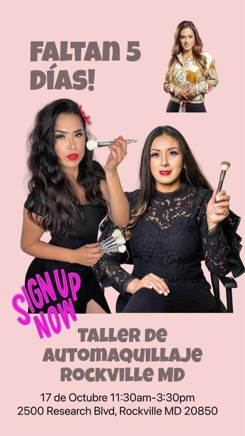 """Flyer for Taller de Automaquillaje """"Nunca será una fantasía lucir bien"""""""