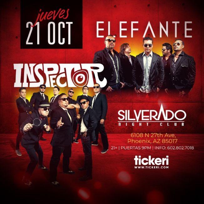 Flyer for ELEFANTE E INSPECTOR EN PHOENIX ARIZONA