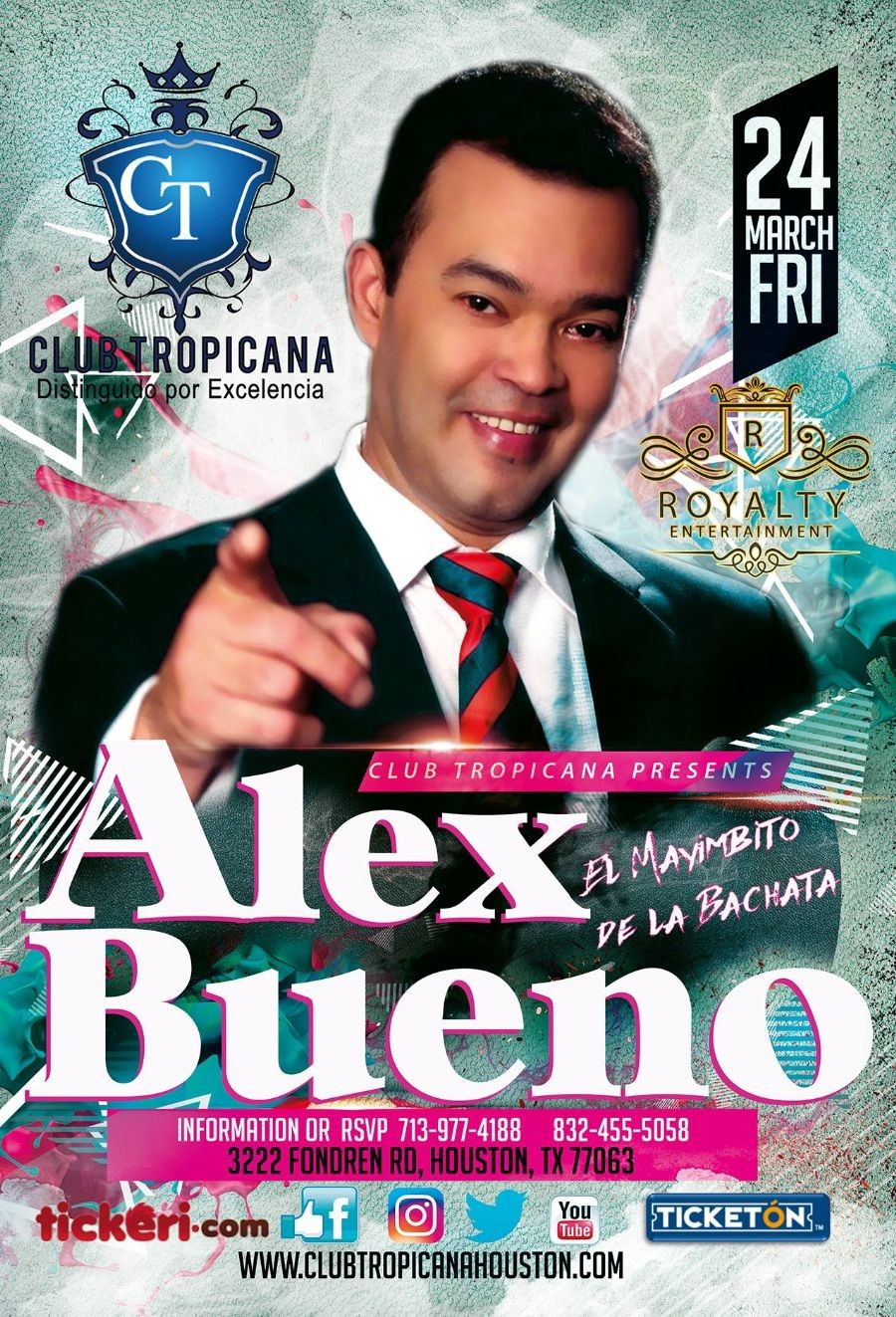 Alex bueno tickeri latino tickets latin tickets for Alex bueno el jardin prohibido