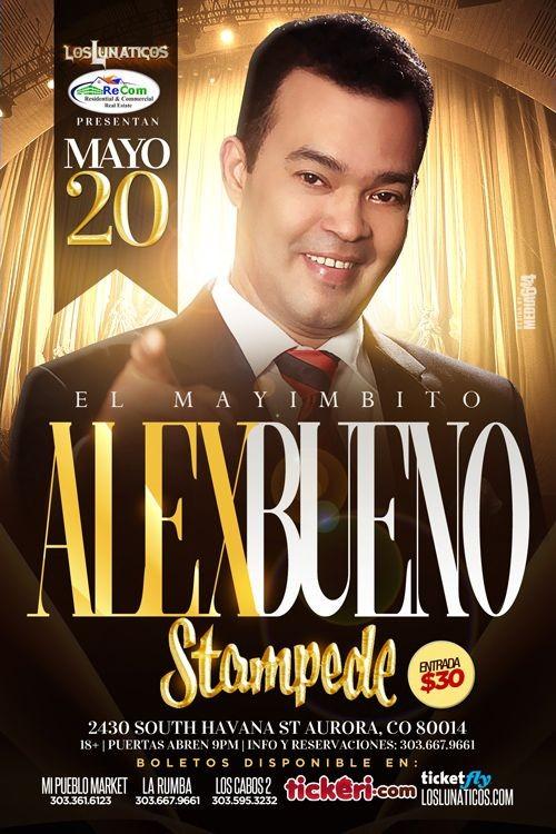 Alex bueno en concierto nueva fecha tickeri latino for Alex bueno salsa jardin prohibido