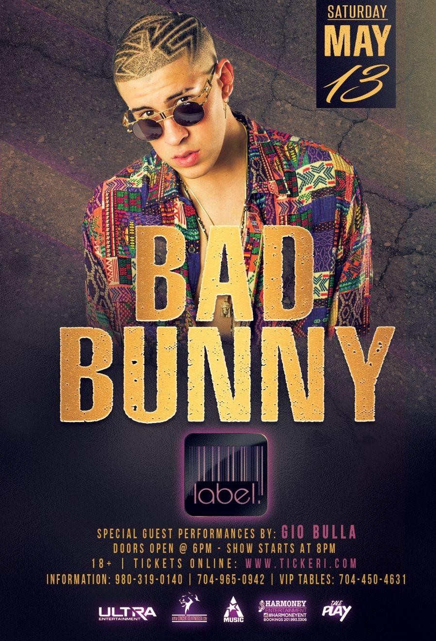Bad Bunny Label Charlotte This Saturday Tickeri